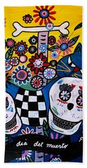 Day Of The Dead Beach Sheet by Pristine Cartera Turkus