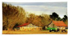 Day On The Farm - Rural Landscape Beach Sheet