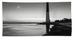 Daybreak At Barnegat, Black And White Beach Towel