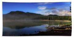 Beach Towel featuring the photograph Daybreak At Sparks Lake by Cat Connor