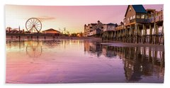 Days End At The Pier Beach Towel