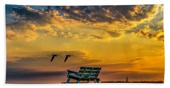 Days End In Cape May Nj Beach Towel