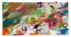 Days Gone By- Abstract Art By Linda Woods Beach Towel