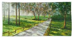 Beach Towel featuring the painting Dayspring Retreat by Lou Ann Bagnall