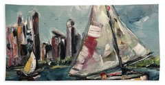 Daytime Sailing In Chicago Beach Towel