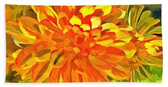 Beach Towel featuring the digital art Dazzling Succulent by Linda Weinstock