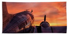 Dc-3 Dawn - 2017 Christopher Buff, Www.aviationbuff.com Beach Towel