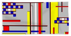 De Stijl Love Beach Towel by Tara Hutton