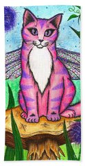 Dea Dragonfly Fairy Cat Beach Towel