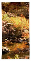 2 Of 6 Dead River Falls  Marquette Michigan Section Beach Towel