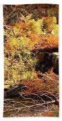 3 Of 6 Dead River Falls  Marquette Michigan Section Beach Towel