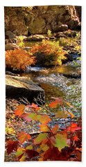 4 Of 6 Dead River Falls  Marquette Michigan Section Beach Towel