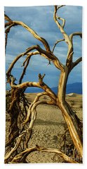 Beach Towel featuring the photograph Dead Tree In Death Valley 12 by Micah May