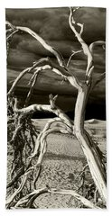 Beach Towel featuring the photograph Dead Tree In Death Valley 13 by Micah May