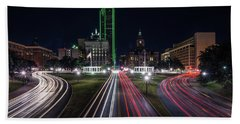 Dealey Plaza Dallas At Night Beach Sheet