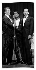 Dean Martin, Sammy Davis Jr. And Frank Sinatra. Beach Towel
