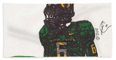 De'anthony Thomas 2 Beach Sheet by Jeremiah Colley