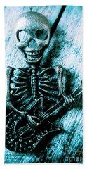 Death Metal Blues Beach Towel