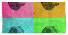 Death Star Vintage Pop Art Color Quadrants Beach Towel
