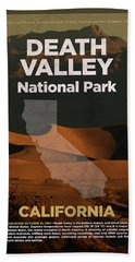 Death Valley National Park In California Travel Poster Series Of National Parks Number 13 Beach Towel