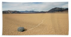 Beach Sheet featuring the photograph Death Valley Ractrack by Breck Bartholomew