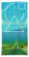 Death Valley Sacred Geometry Beach Towel