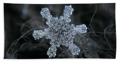 December 18 2015 - Snowflake 1 Beach Towel by Alexey Kljatov