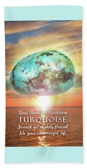December Birthstone Turquoise Beach Sheet by Evie Cook