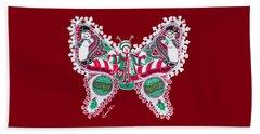 December Butterfly Beach Towel
