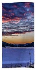December Dawn On The Lake Beach Sheet