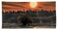 December Sun #f3 Beach Towel by Leif Sohlman