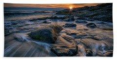 December Sunrise In Ogunquit Beach Towel