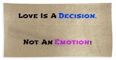Decision Or Emotion Beach Sheet