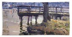 Deck At Tonawanda Canal Beach Towel