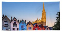 Deck Of Cards And St Colman's Cathedral, Cobh, Ireland Beach Towel