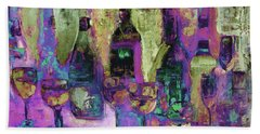 Deck The Halls With Walls Of Wine Art  Beach Towel