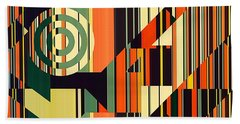 Deco Abstract 1  Beach Towel
