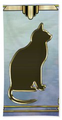 Deco Cat 2 Beach Towel