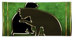 Deco Cats - Emerald Beach Towel