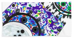 Deco Cogs Beach Towel