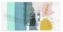 Deconstructed Sunset- Abstract Art By Linda Woods Beach Towel