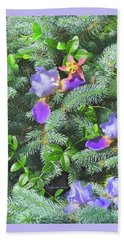 Beach Towel featuring the photograph Decorating For Spring by Nancy Lee Moran
