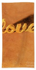 Decorating Love Beach Towel by Jorgo Photography - Wall Art Gallery