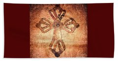 Beach Towel featuring the painting Decorative Antique Cross A39816 by Mas Art Studio