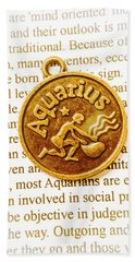Decorative Aquarius Beach Towel