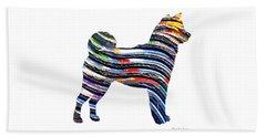 Decorative Husky Abstract O1015b Beach Towel