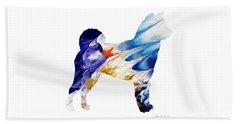 Decorative Husky Abstract O1015c Beach Towel