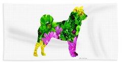 Decorative Husky Abstract O1015d Beach Towel