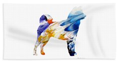 Decorative Husky Abstract O1015e Beach Towel