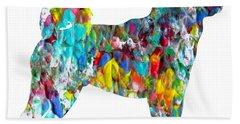 Decorative Husky Abstract O1015h Beach Towel